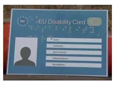 European disabiltity card